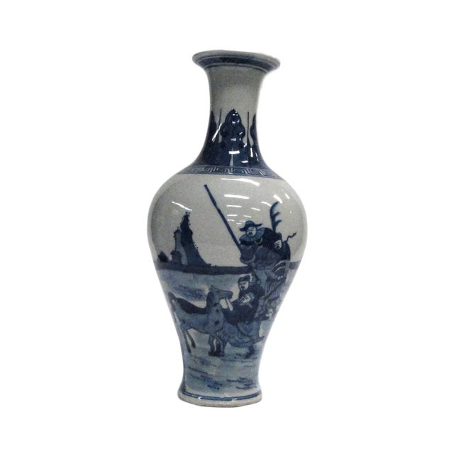 Chinese Blue White Porcelain Scenery Vase - Image 1 of 5