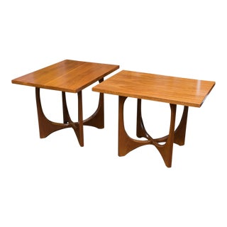Midcentury Adrian Pearsall Style Walnut Side Tables - a Pair
