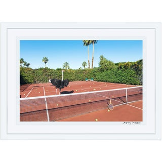 "Large ""Tennis Lesson"" (Gray Malin at the Parker) Framed Limited Edition Signed Print"