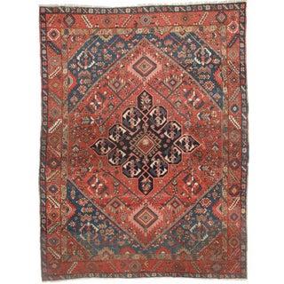 "Rugsindallas Antique Persian Heriz Wool Rug - 9'1"" X 11'11"""