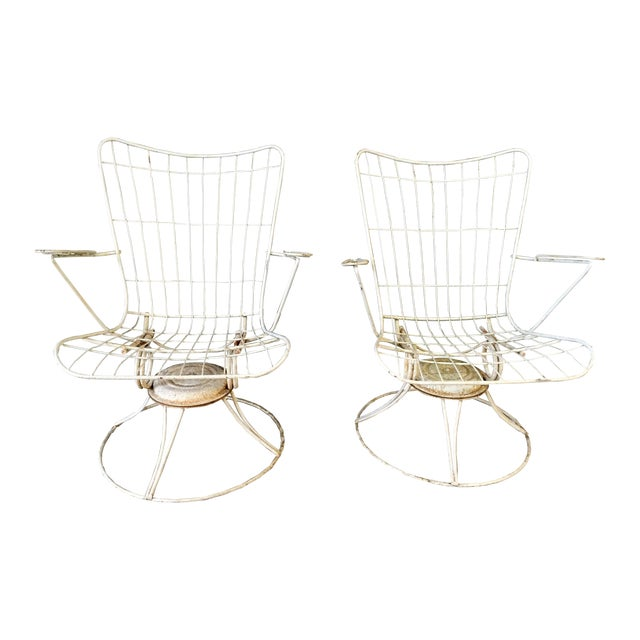 Vintage Homecrest Swivel Chairs - A Pair - Image 1 of 11