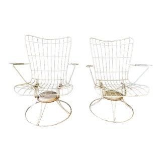 Vintage Homecrest Swivel Chairs - A Pair