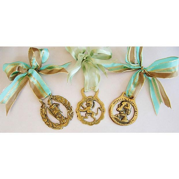 English Brass Horse Ornaments - Set of 3 - Image 6 of 6