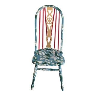Suga Lane Hand Painted Farmhouse Windsor Chair