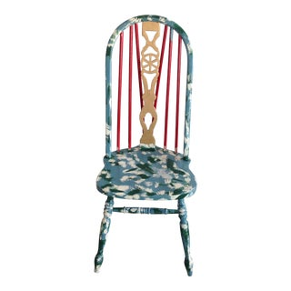 Suga Lane Hand Painted Farmhouse Windsor Chair