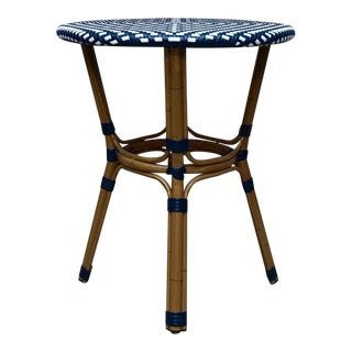 Wicker and Bentwood Accent Table