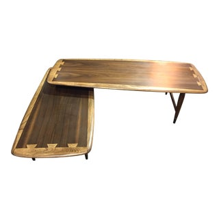 Lane Acclaim Mid-Century Modern Swivel Pivot Hinge Coffee Table