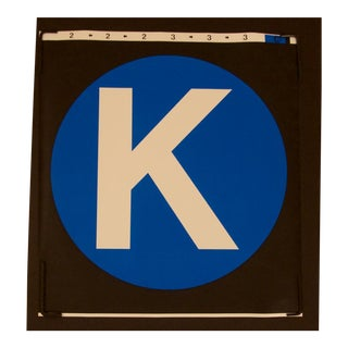 "New York City Subway ""K"" Train Sign"