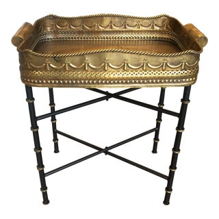 Traditional Brass Tray Table