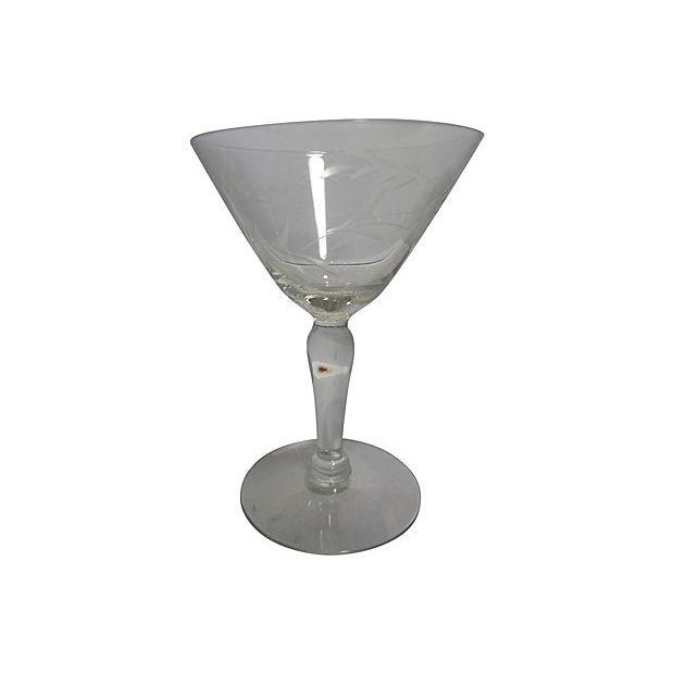 Image of Etched Glass Martini Set - Set of 11