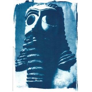 Cyanotype Print - Sumerian Hollistic Sculpture