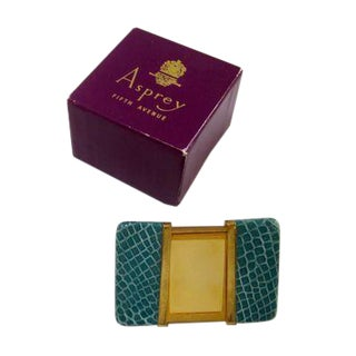 Asprey Leather & Brass Picture Frame