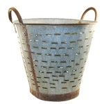 Image of Vintage Olive/Harvest Bucket