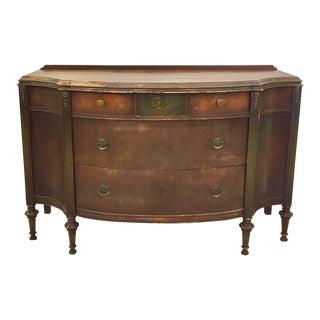 Antique Bow Front Dresser Chest