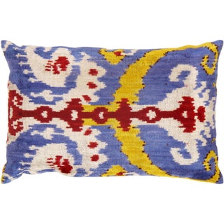 "Silk Velvet Ikat Pillows 16"" X 24"""