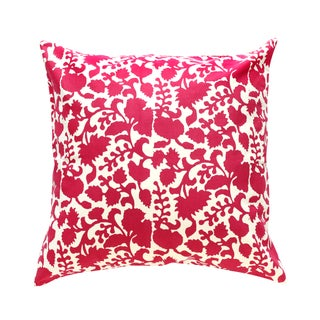 Red Chinoiserie Batik Pillow Cover