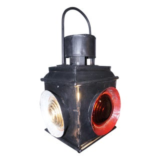 Antique Railroad Signal Light Table Lamp