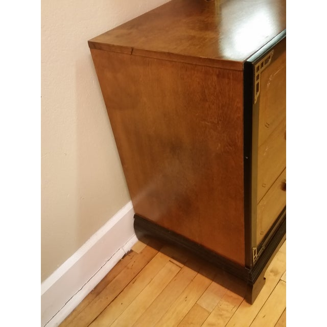 Bassett Chinoiserie Long Dresser With Mirror - Image 6 of 11
