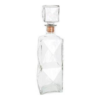 Vintage Faceted Glass Decanter