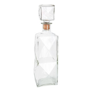 Vintage Faceted Glass Decanter
