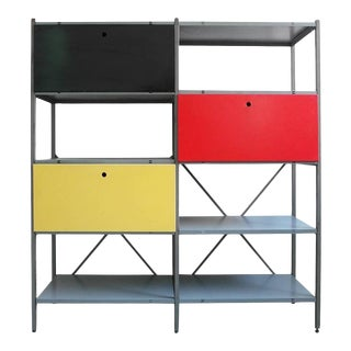 Colorful Industrial Metal Storage Cabinet by Wim Rietveld for Gispen, 1954