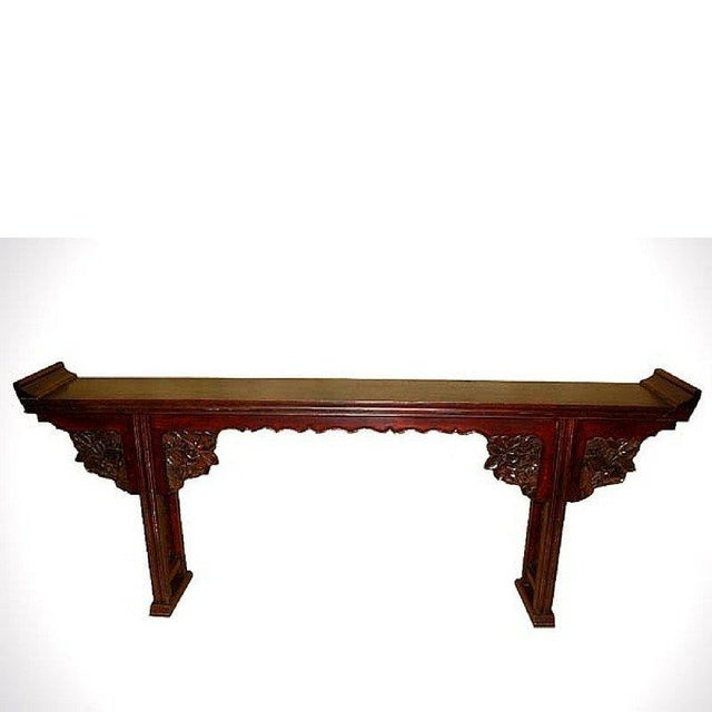 Asian Antique Carved Altar Table - Image 3 of 7
