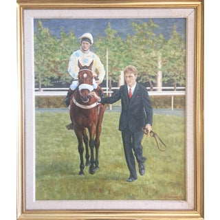 Vintage J. O'Connor Irish Horse Racing Oil Painting