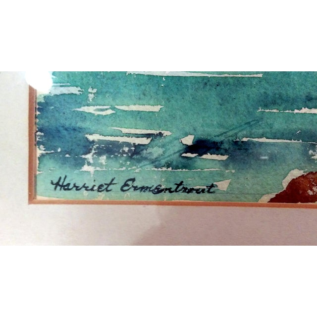 Harriet Ermentrout Seascape Watercolor Painting - Image 4 of 9