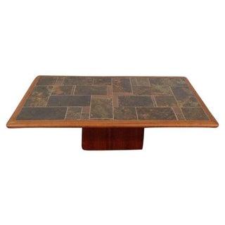 Mid-Century Carved Walnut Coffee Table