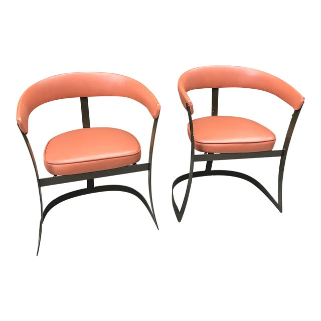 Grapefruit Pink Chairs - A Pair - Image 1 of 10