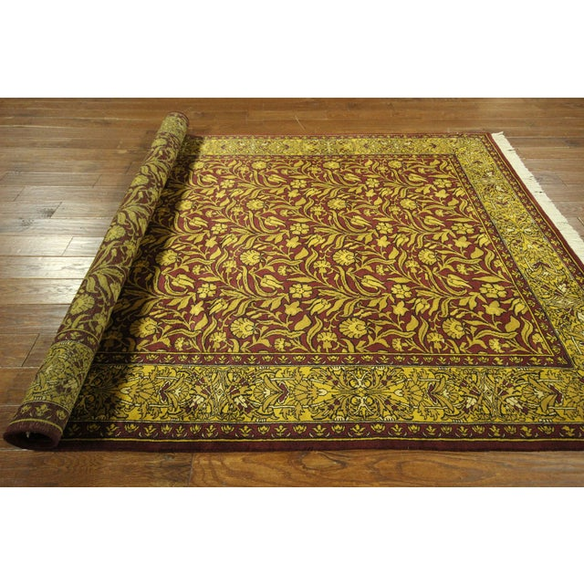 "Suzani Collection Oushak Floral Rug - 6'2"" x 8'10"" - Image 9 of 10"