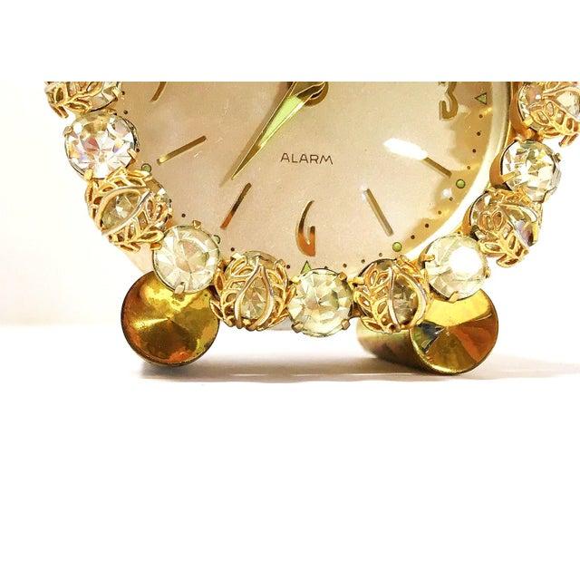1930s Vintage Phinney-Walker Bejeweled Alarm Clock - Image 7 of 8