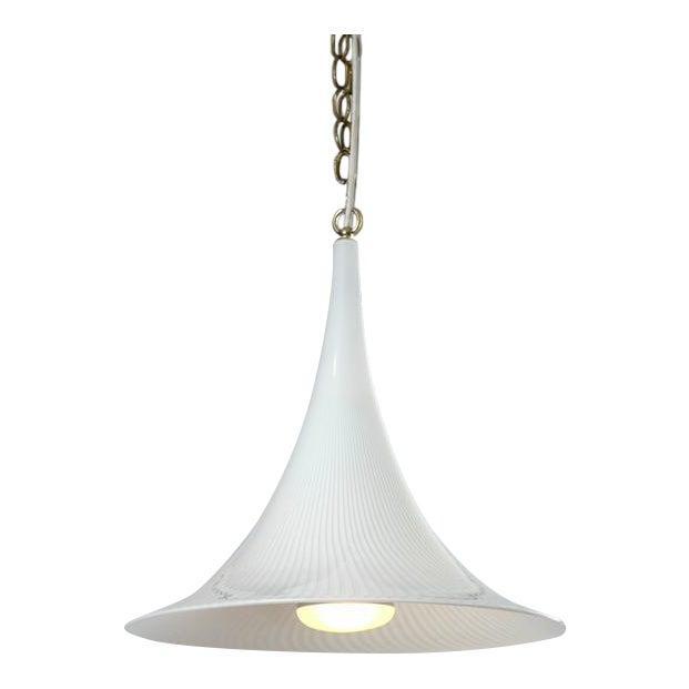Murano Swirl Glass Cone Pendant Light - Image 1 of 7
