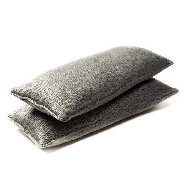 Gray Shark Lumbar Pillows - A Pair - Image 1 of 3