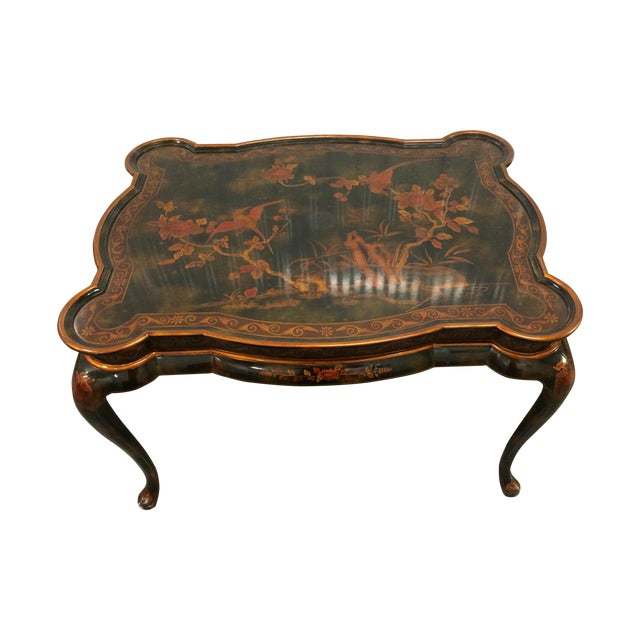 Maitland-Smith Hand-Painted Inlay Coffee Table - Image 1 of 10