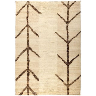 """Moroccan Beni Ourain Hand Knotted Area Rug - 6' 3"""" X 8' 10"""""""