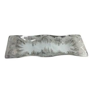 Dorothy Thorpe Style Silver Splatter Tray