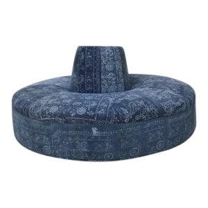 Circular Indigo Chair