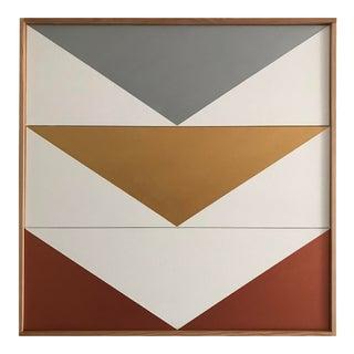 "Jason Trotter Original Acrylic Painting ""Metallics Arrow Down Triptych JET0500"""