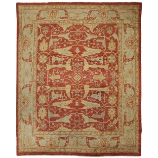 Aara Rugs Hand Knotted Oushak Rug- 10′4″ × 13′8″
