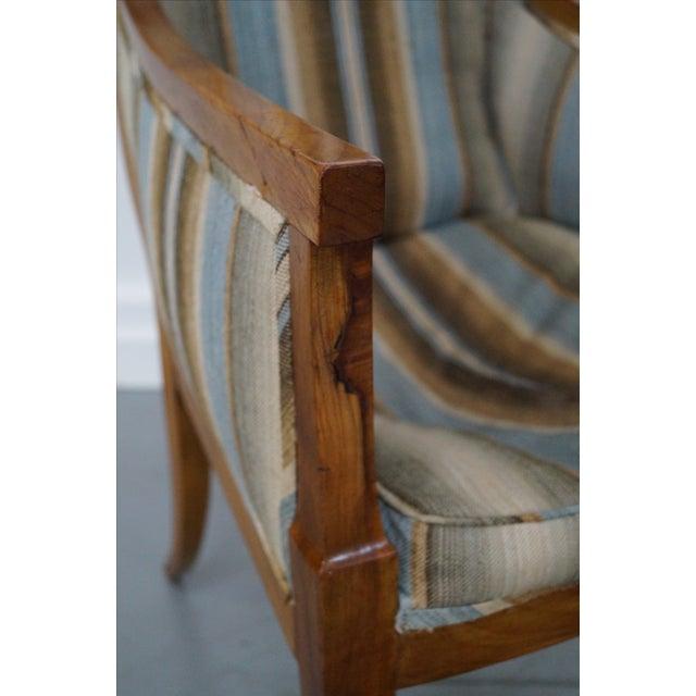 Antique Italian Walnut Klismos Arm Chairs - Pair - Image 9 of 9