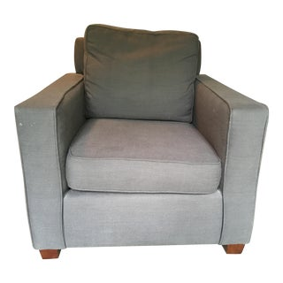 West Elm Henry Grey Linen Armchair