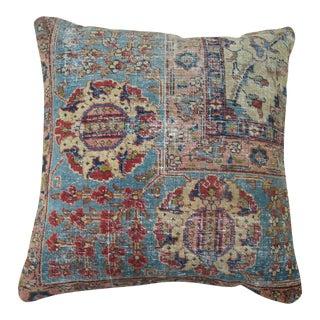 Antique Persian Tabriz Rug Pillow