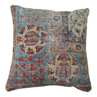 Antique Persian Tabriz Rug Pillow