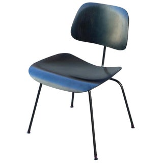 Charles Eames All-Black Vintage DCM Chair
