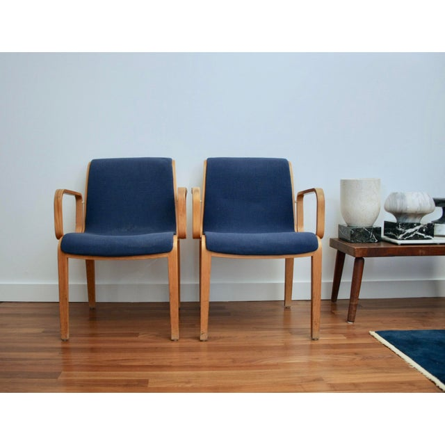Bill Stephens for Knoll Arm Chairs, a Pair - Image 6 of 8