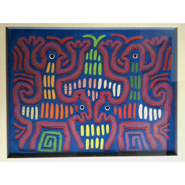 Vintage Indian Mola Framed Textile Art - Image 3 of 10