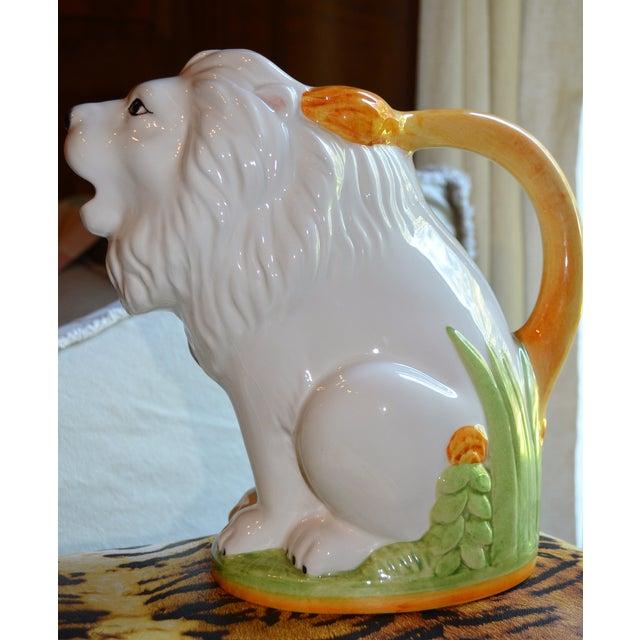 Vintage Italian Ceramic Lion PItcher - Image 7 of 10
