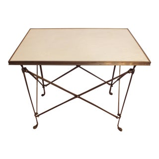 Global Views Gueridon Style White Marble Table