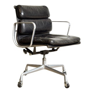 Original Eames for Herman Miller Aluminum Group Soft Pad Management Office  Chair with ArmsVintage   Used Leather Office Chairs   Chairish. Eames Soft Pad Management Chair Used. Home Design Ideas